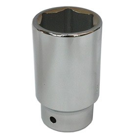 Corrosion-Resistant Socket: Metric, 3/4 in Drive Size, 6 Points, 36 mm Socket Size, 2 1/4 in Overall Lg, Chrome
