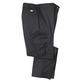 Premium Industrial Cargo Pant: Relaxed Fit, 30 in Inseam Lg, 40 in Max Waist Size, Men, Polyester/Cotton, Black