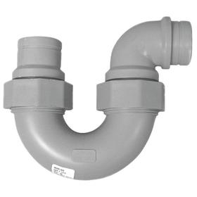 Watts Polypropylene Pipe P-Trap: No Hub, 1 1/2 Pipe Size (Port 1), 1 1/2 Pipe Size (Port 2), Blue, P-Trap Fitting Type