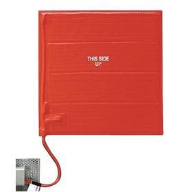 Silicon Rubber Heat Blanket: 180 W Watt, 12 in Overall Wd, 12 in Overall Lg, 3/16 in Overall Thickness