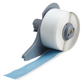 Brady Portable Printer Label: For Brady BMP71, Gen Purpose, Gen Purpose Vinyl, Sky Blue, 1 in Label Wd, 50 ft Roll Lg