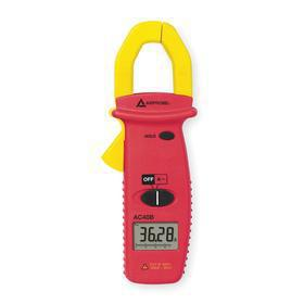 Amprobe Clamp Meter: Clamp On Jaw, 400 A Max AC Current Detected, 1.000 in Jaw Capacity, +/-2.0% AC Current Accuracy