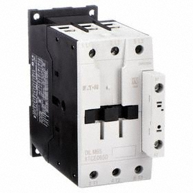 Eaton IEC Magnetic Contactor: 3 Poles, Single/Three Phase, 65 A Current Rating, 24V AC Control Volt, Silver Alloy