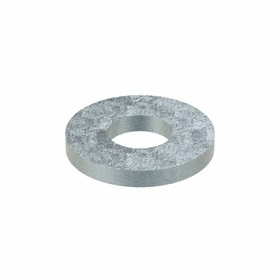 Flat Washer: Steel, Zinc Plated, Low Carbon Material Grade, For No. 10 Screw Size, 0.219 in ID, 0.5 in OD, 435 PK