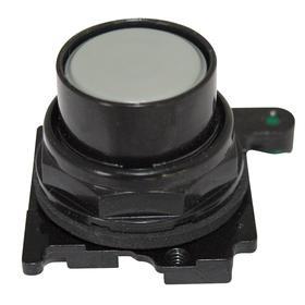 Eaton Push Button Operator: Non-Illuminated, Flush Operator, Momentary, Blue, 30 mm Operator Dia, Silver, Metal