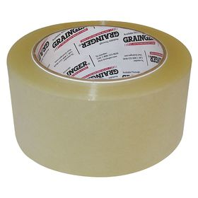 Packaging Tape: Polypropylene, For Lightweight Cartons, Hot Melt, 48 mm Overall Wd, 0.0018 in Overall Thickness, 6 PK