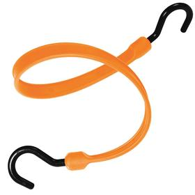 Stretchable Strap with Plastic Hooks: 12 in Lg, Orange, Polyurethane, Nylon, 1 1/2 in Strap Wd