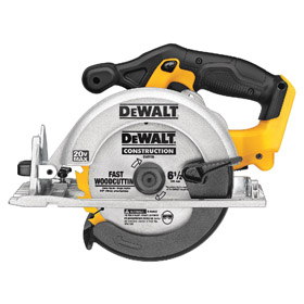 DeWalt Heavy Duty Cordless Circular Saw: 20V, Primary Wood, 6 1/2 in Blade Dia, 5/8 in Arbor Size, Left, 5250 RPM Max Blade Speed