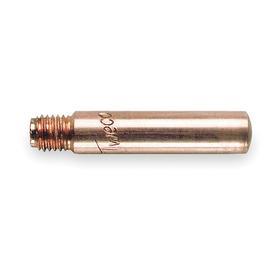 Tweco WeldSkill MIG Welding Gun Tip: Heavy-Duty Contact Tip, For 0.047 in Wire Size, Copper Alloy, Male, UNF, 25 PK