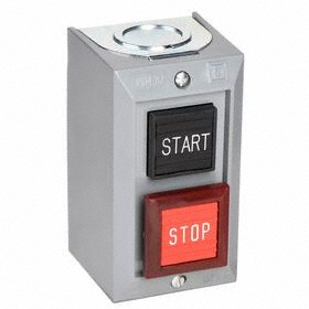 Schneider Electric Emergency Stop Push Button Station: Momentary, Start-Stop, Black/Red, Rectangular, Screw Clamp