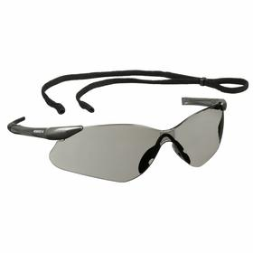 Kimberly-Clark Professional Safety Glasses: Gray, Frameless Frame, Scratch Resistant, Silver, ANSI Z87.1+2010, Nylon