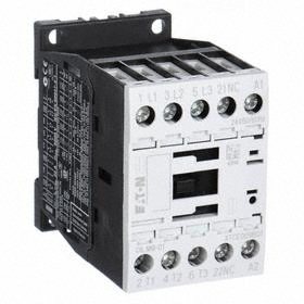 Eaton IEC Magnetic Contactor: 3 Poles, Single/Three Phase, 9 A Current Rating, 24V AC Control Volt, Silver Alloy