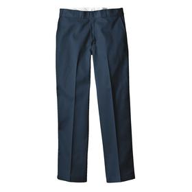 Work Pant: Tapered Leg, 32 in Inseam Lg, 32 in Max Waist Size, Men, Polyester/Cotton, Navy, 4 Pockets, Wrinkle Resistant