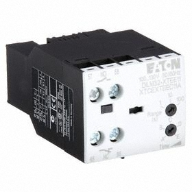 Eaton IEC Timer Switch Module: On Delay, 0.5 sec Min Time Setting, 10 sec Max Time Setting, Starting or Stopping Motors