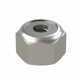 Nylon Insert Locknut: 316 Stainless Steel, 8-32 Thread Size, 23/64 in Wd, 1/4 in Ht, 50 PK