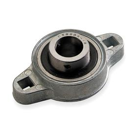 Flange-Mount Bearing Unit: Inch, Zinc Die Cast, Steel, Light Duty, Set Screw, 1 in Bore Dia, 3 7/8 in Overall Lg, Ball