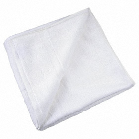 Hand Towel: 100% Cotton, White, 27 in Lg, 16 in Wd, Blended Cam, 12 PK