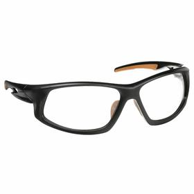 Carhartt Safety Glasses: Clear, Full Frame, Anti-Fog/Scratch Resistant, Black, ANSI Z87.1-2010/CSA Z94.3-2007