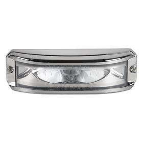 Federal Signal Exterior Vehicle Warning Light: White, 1 1/2 in Overall Lg, 5 1/8 in Overall Ht, 12.0 V DC/24.0 V DC Volt