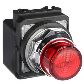 Pilot Light: 24V AC, 2.18 in Overall Lg, Full Volt, Red, For 26.4 V AC, Includes Bulb, Operator Interface, Chrome-Plated
