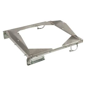 Roof Ventilator Hinge Kit: 40 in For Ventilator Base Square Size, Downblast, 40 in Overall Lg, 40 in Overall Wd