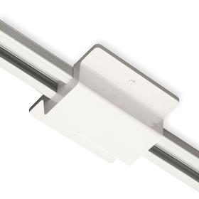 Eaton Track Light Connector: 4 1/4 in Overall Lg, White, Polycarbonate, CSA Listed_UL/cUL Listed, Floating Connector