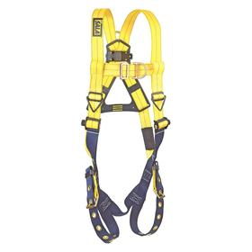 DBI Sala Delta Harness for Climbing: 2 D-Rings, Vest, Stretchable Polyester, 1 Back & 1 Front D-Ring, Steel, Friction
