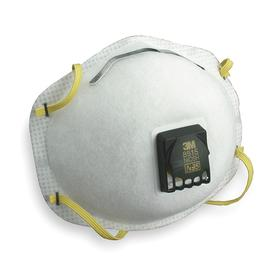 3M Disposable Welding Particulate Respirator: N95 NIOSH Filter Rating, Exhalation Valve, Nose Clip, Dual Elastic, 10 PK