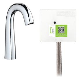 Chicago Faucets Bathroom Faucet: Self Sustaining Power System/Turbine, Solenoid Valve, 1 gpm Flow Rate, Brass, High Arc Spout