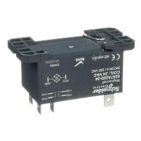 Schneider Electric Enclosed Power Relay: DPST NO Pole-Throw Configuration, 6 Terminals, 24V AC Control Volt, 1 hp @ 120V