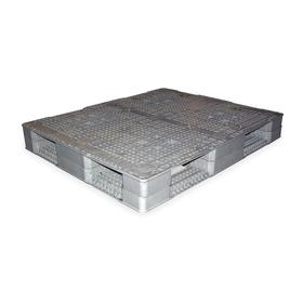 Pallet: Stackable, 4-Way, 3790 lb Max Dynamic Load Capacity, 4400 lb Max Static Load Capacity, 48 in Overall Lg, Gray
