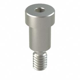 """Precision Shoulder Screw: 18-8 Stainless Steel, Hex Socket, 3/8 in Shoulder Dia, 1/4""""-20 Thread Size, 1/2 in Shoulder Lg, 5 PK"""