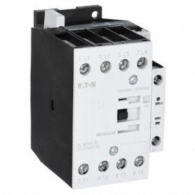 Eaton IEC Magnetic Contactor: 4 Poles, Single/Three Phase, 25 A Current Rating, 24V DC Control Volt, Silver Alloy