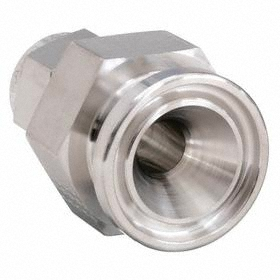 Parker Hannifin Stainless Steel Instrumentation Tube Plug: Flange, Female, 3/4 in Port 1 Tube Size
