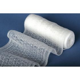 Medline Gauze Bandage, Latex-Free: Bulk, 4 in Overall Wd, 75 in Overall Lg, Non-Sterile, White, 1 ply Thickness, 12 PK