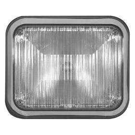 Code 3 Exterior Vehicle Warning Light: Rectangle, White, 9 in Overall Lg, 7 in Overall Ht, 24.0 V DC Volt, 0.40 A Current