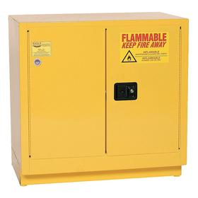 Safety Cabinet: Steel, Manual, 35 in Ht, 35 in Wd, 22 in Dp, 22 gal Capacity, 2 Doors, 1 Shelves, Yellow, Mfr. No. 1972
