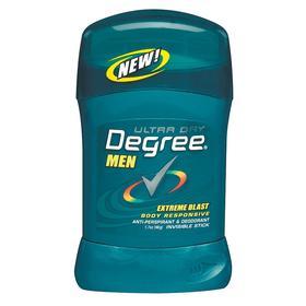 Degree Deodorant: 1.7 oz Container Size, Stick, Extreme Blast, 12 PK