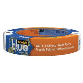 3M ScotchBlue 2080 Masking Tape: For Delicate Surfaces, Paper, Acrylic, 24 mm Overall Wd, 0.0038 in Overall Thickness