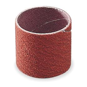 3M Spiral Sanding Band: 1/2 in Drum/Band Dia, 1 in Drum/Band Lg, Aluminum Oxide, 50 Grit, Cloth, 100 PK