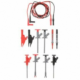 Test Lead Kit: 48 in Lead Lg, CAT III 1000V IEC Safety Rating, 10 A Current, Sheathed Banana Plug, Insulated Clip Insulation