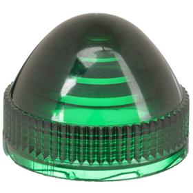 Schneider Electric Pilot Light Lens: LED/Incandescent, Green, 30 mm Compatible Panel Cutout Dia, For Schneider KP, KT & SKT Series