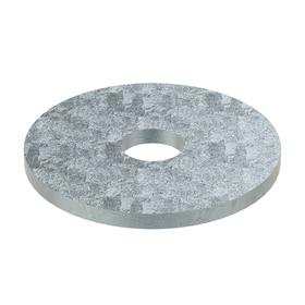 Oversized Flat Washer: Steel, Zinc Plated, Low Carbon Material Grade, For No. 8 Screw Size, 0.188 in ID, 0.75 in OD, 50 PK