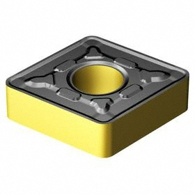 Sandvik Coromant Rhombic (C) 80° Turning Inserts: For Steel, CNMG Insert, 19 Seat Size, 0° Clearance Angle, 3/4 in Insert Size, Roughing, 10 PK