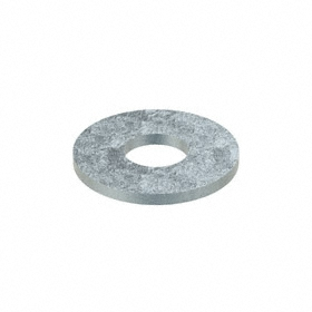 Oversized Flat Washer: Steel, Zinc Plated, Low Carbon Material Grade, For 5/8 in Screw Size, 0.688 in ID, 25 PK