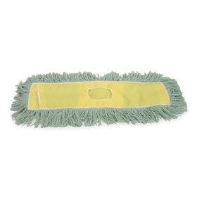 Dust Mop Head: Cut End, Slip On, 48 in Lg, 5 in Wd