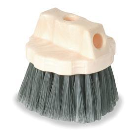Vehicle Wash Brush: Polystyrene, Window Washer, Gray, For Tapered Handle/Threaded Handle, 18 Haz Material Indicator