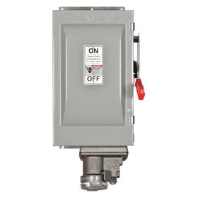 Safety Switch: Three Phase, 3 Poles, Galvanized Steel, 50 HP At 600V AC Output Power - Three Phase, Outdoor, Heavy
