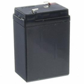 SLA Battery: 4.5 Ah Capacity, 4 3/16 in Ht, 1 7/8 in Wd, 2 3/4 in Dp, ABS, F1 Terminal Type