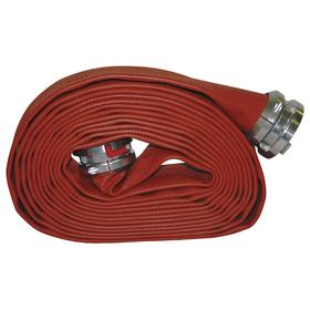 Chemical-Resistant Fire Hose: 1 1/2 in Hose ID, Red, 50 ft Overall Lg, 300 psi Max Op Pressure